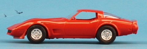 AMT 1:25 1:24 1981 Corvette Red Orange Built Model #5-8166 N/A AMT