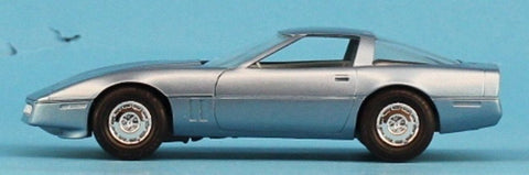 AMT 1:25 1:24 1985 Corvette Light Blue Built Model #5-8573 N/A AMT
