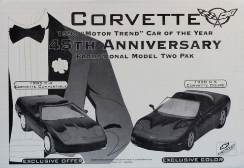 AMT 1:25 1:24 Corvette 1988 Motorthon Car 45th Anni.-Promotional 2 pack Black N/A AMT