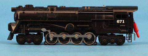 Lionel O Gauge Pennsylvania Century Club #671 S2 Steam Turbine w/ Tender & Display Case Locomotive Engine #6-18057U