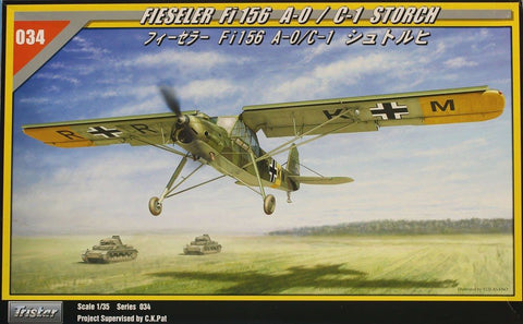 Tristar 1:35 Fieseler Fi 156 A-0 C-1 Storch Plastic Aircraft Model Kit #35034U