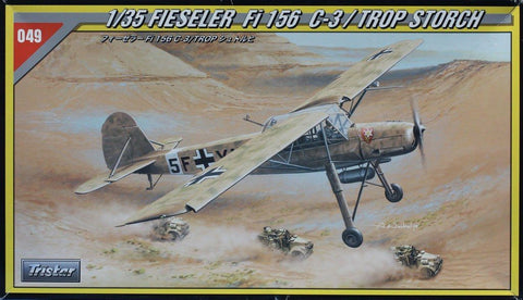Tristar 1:35 Fieseler Fi 156 C-3/ Trop Storch Plastic Aircraft Model Kit #35049U