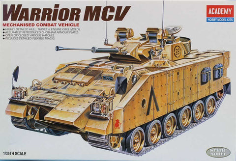 Academy 1:35 Mechanised Combat Vehicle Warrior MCV Plastic Model Kit #1365U