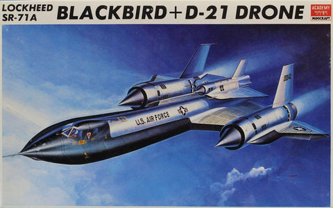 Academy Minicraft 1:72 Lockheed SR-71A Blackbird GTD-21B Model Kits #1642U