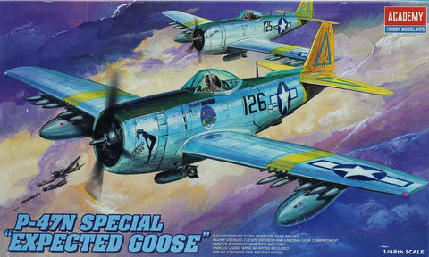Academy 1:48 P-47 N Special Expected Goose Plastic Model Kit #FA207 #2206U