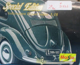 Maisto 1:18 1951 Volkswagen Export Sedan Built Model #31820 N/A Maisto
