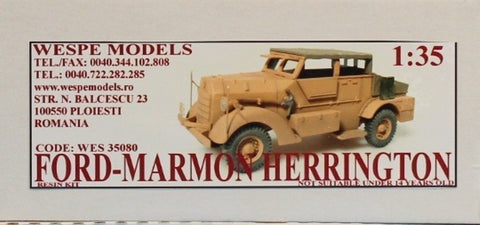 Wespe Models 1:35 Ford-Marmon Herrington Resin Model Kit #WES35080 N/A Wespe_Models
