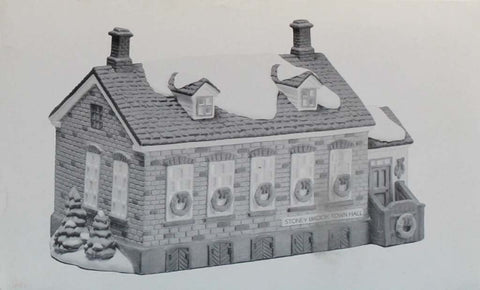 Department 56 Stoney Brook Town Hall Heritage Village Collection #5644-8U N/A Department_56