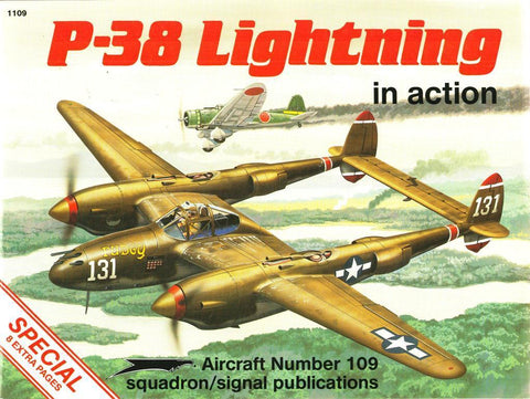Squadron Signal P-38 Lightning in Action Aircraft No.109 #1109 by Larry Davis N/A Squadron_Signal