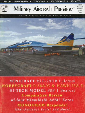 Military Aircraft Preview Minicraft Mig-29ub Vol.1 No.7 7.1993 July Magazines U N/A Military Aircraft Preview