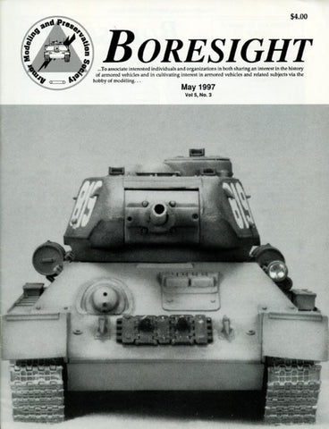 Boresight Dog Pound Tamlya T-34 Tank Series Vol.5 No.3 5.1997 May Magazine U N/A Boresight