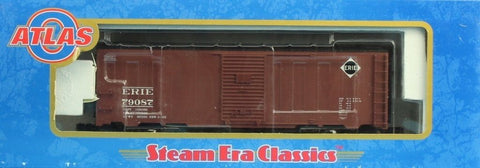 Atlas O Gauge Erie #79087 3-Rail 40' 1937 AAR Car Boxcar #8551-3U N/A Atlas