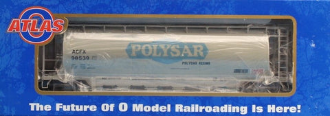 Atlas O Gauge Polysar ACFX A.C.F.X #98539 6-bay Cylindrical Hopper Car U N/A Atlas