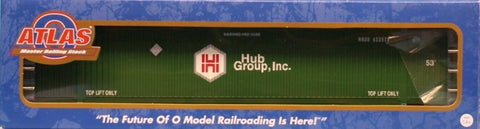 Atlas O Gauge Hub Group #633579 Master Line CIMC 53ft Container Car #3006307-10U N/A Atlas