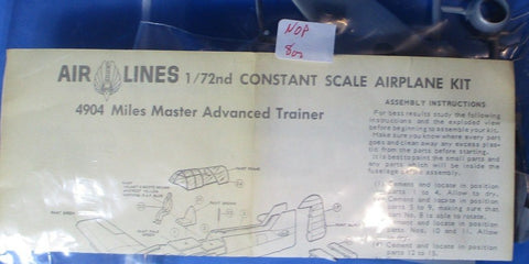 Air Lines Frog 1:72 Miles Master Advanced Trainer M.27 Plastic Model Kit #4904U1 N/A Air_Lines_Frog
