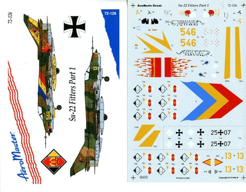 Aero Master Decals 1:72 Su-22 Fitters Part 1 #72-126 N/A Aero Master Decals