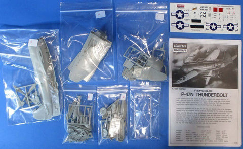 Academy 1:48 Republic P-47 N Thunderbolt Plastic Aircraft Model Kit #2155U1 N/A Academy