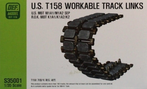 DEF Model 1:35 US T-158 Workable Track Set for M1A1/A2 Abrams #S35001 N/A DEF_Model