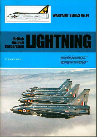 Warpaint Series No.14 : British Aircraft Corporation Lightning #WPT014 N/A Warpaint_Books