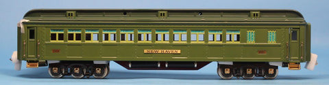 Lionel Electric Trains 1:48 O Scale Std.Gauge Show Room Coach Car Two Tone Green New Haven #11-40018