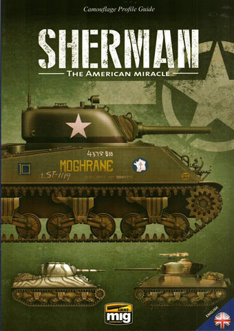 Ammo of Mig Camouflage Profile Guide Sherman The American Miracle English #6080 N/A Ammo_of_Mig_Jimenez