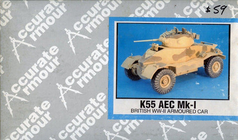 Accurate Armour 1:35 AEC Mk-1 WWII British Armoured Car Resin Model Kit #K55 N/A Accurate Armour