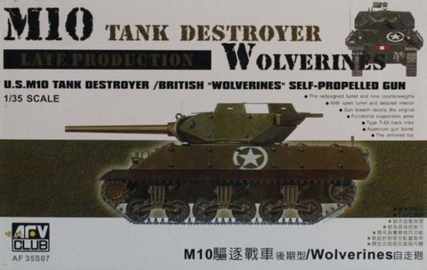 AFV Club 1:35 US M10 Tank Destroyer Late British Wolverines SP Gun Kit #AF35S07U N/A AFV_Club