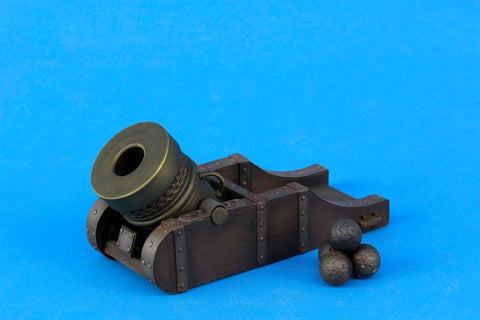 Verlinden Built 1:16 120mm16th Century Siege Mortar Original Display #VPB1052V1 N/A Verlinden Productions