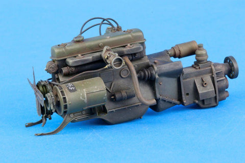 Verlinden Built 1:16 120mm Motor for M151 Ford MUTT Original Display #VPBM151Eng N/A Verlinden Productions