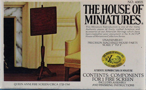 The House of Miniatures 1:12 Queen Anne Fire Screen Circa 1725-1760 Kit #40021 N/A The_House_of_Miniatures