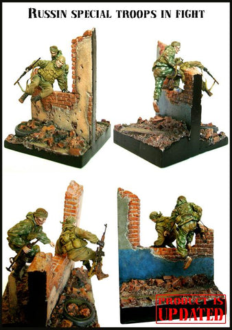 Evolution Miniatures 1:35 Russian Special Troops in Fight Resin Figure EM-35016 N/A Evolution Miniatures