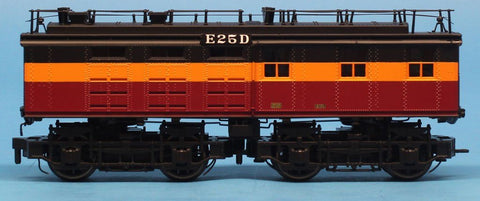 MTH 1:48 O Scale EF-2 Engine Bobtail Booster Unit Non-Powered Dummy Milwaukee Road E25D Train Model #20-5698-3