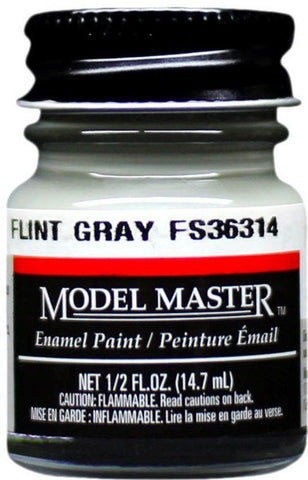Testors Model Master Flint Gray Enamel Paint 0 5 oz Bottle #2037