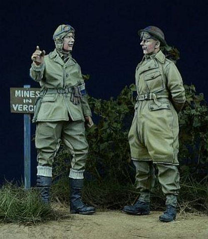 D-day Miniature 1:35 British Dispatch Rider & MP 45 - 2 Resin Figures Kit #35012 N/A D-day Miniature