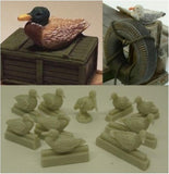 Reality In Scale 1:35 Water Birds Set 10pc - Resin Diorama Accessory #35211
