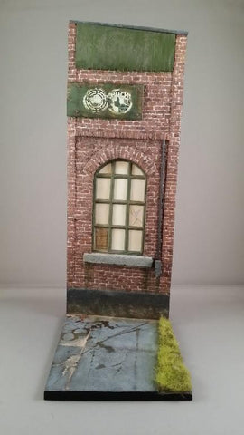 Reality In Scale 1:35 Large Factory Facade W Base Resin Decal Diorama Acc #35250 N/A Reality In Scale