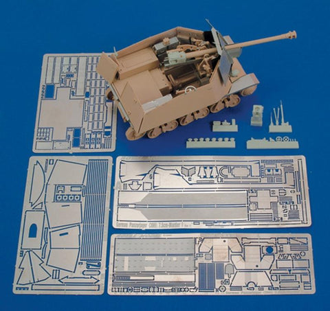 Royal Model 1:35 German Pz.Jager 7.5 cm-Part 1?? (for Trumpeter) - PE Resin #428 N/A Royal Model