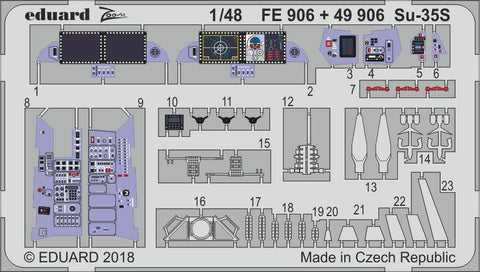 Eduard 1:48 Su-35S Color PE Detail Set For GREAT WALL HOBBY #49906