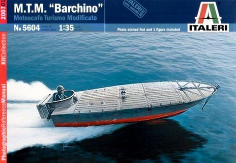 Italeri 1:35 M.T.M Barchino Motoscafo Military Speed Boat Model Kit w/ PE #5604 N/A Italeri