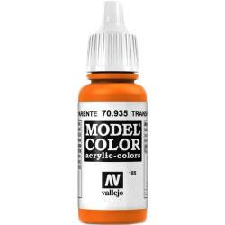 Vallejo Model Color Acrylic Paint Transp. Orange 17ml Jar #70.935 N/A Vallejo