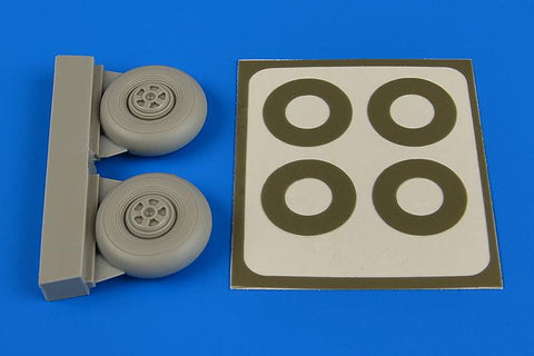 Aires 1:72 Beaufighter Wheels (Five Spoke) & Paint Masks for Airfix Update #7346 N/A Aires