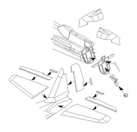 unassembled unpainted model accessory