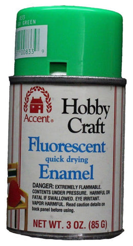 Accent Hobby Craft High Gloss Quick Drying Enamel Go Go Green 3oz Can #833 N/A Accent