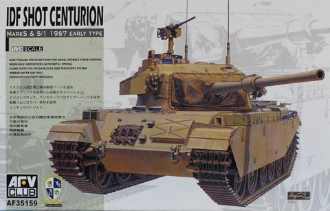 AFV Club 1:35 IDF Shot Centurion Mark5 & 5/1 1967 Early Type Kit #AF35159 N/A AFV_Club
