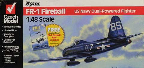 Czech Model 1:48 Ryan FR-1 Fireball US Navy Dual-Powered Fighter Kit #4815U N/A Czech_Model
