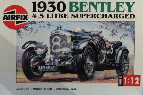 Airfix 1:12 1930 Bentley 4.5 Litre Supercharged Plastic Model Kit #20440U N/A Airfix