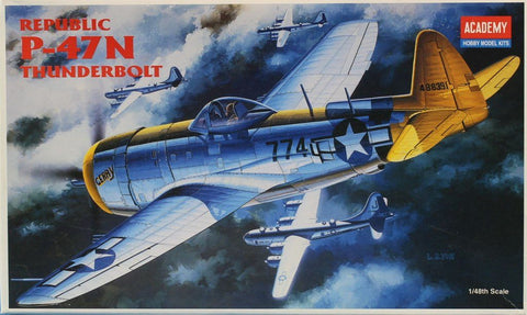 Academy 1:48 Republic P-47 N Thunderbolt Plastic Aircraft Model Kit #2155U N/A Academy