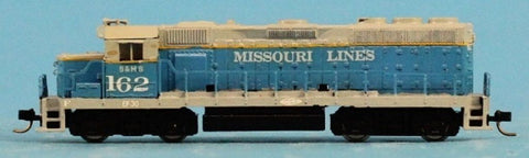 Life Like 1:160 N Gauge Missouri Lines #162 GP-38 Locomotive Engine U