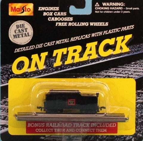 Maisto 1:160 N Gauge On Track Black Tender Metal Diecast Model #15131