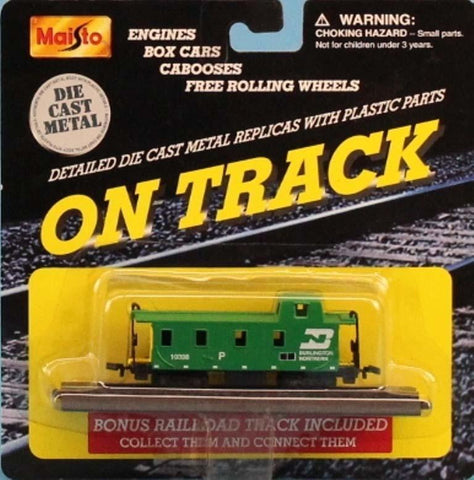 Maisto 1:160 N Gauge On Track Burlington Northern #10326 Green Caboose #15131 N/A Maisto